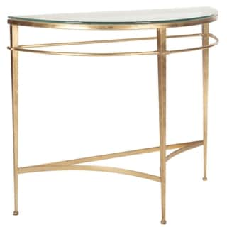Safavieh Couture High Line Collection Baur Antique Gold Gilt Console Table