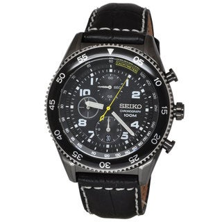Seiko Men's SNDG61P1 Chronograph Black Watch