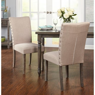 Simple Living Burntwood Parson Chair (Set of 2) - N/A