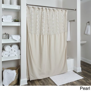Arden Loft Coquette Collection Shower Curtain (Option: Pearl)
