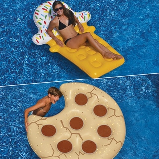Swimline Cookie Float and Ice Cream Dream Float 2-Pack Inflatable for Swimming Pools
