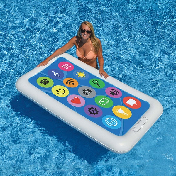 Swimline Phone Float Fun Inflatable for Swimming Pools