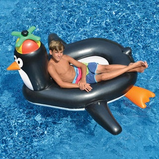 Swimline Giant Penguin Fun Inflatable for Swimming Pools
