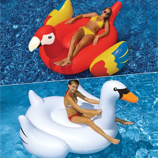 Swimline Giant Swan and Giant Parrot 2-Pack for Swimming Pools