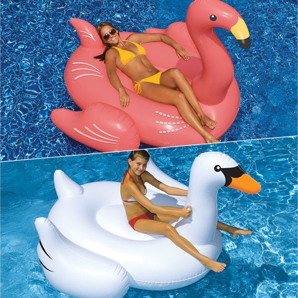 Swimline Giant Swan and Giant Flamingo 2-Pack for Swimming Pools