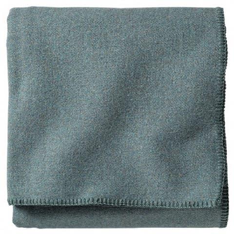 Pendleton Eco-wise Washable Solid Shale Blue Blanket