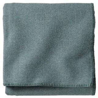 Pendleton Eco-wise Washable Solid Shale Blue Blanket (3 options available)