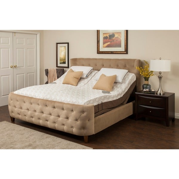 shop blissful nights dahlia 11 inch king size memory foam. Black Bedroom Furniture Sets. Home Design Ideas