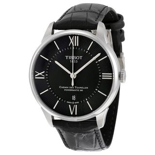 Tissot Men's T0994071605800 'T-Classic Chemin Des Tourelles' Automatic Black Leather Watch