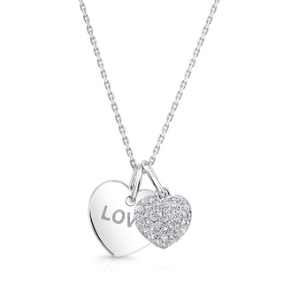 14k White Gold 1/5ct TDW Diamond Heart Necklace (H-I, VS1-VS2)