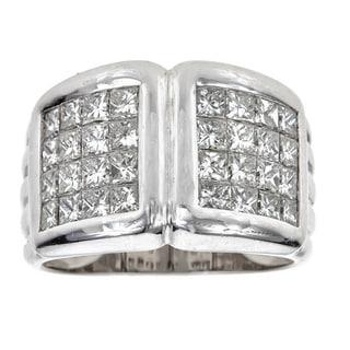 18k White Gold 2 1/4ct TDW Diamond Channel Set Ring