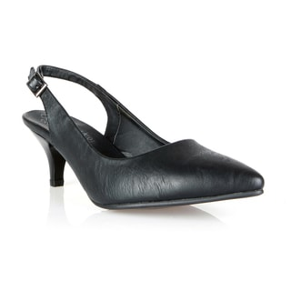Com Feite Madrid-01 Slingback Pointed Kitten Heels