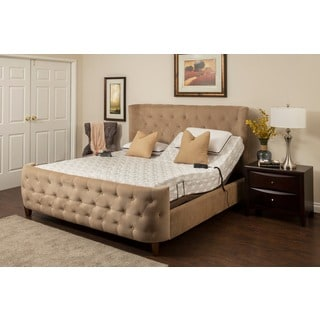 Blissfull Nights Blossom 9-inch King-size Memory Foam Mattress and Adjustable Base Set