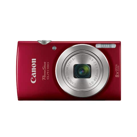 Canon PowerShot 180 20 Megapixel Compact Camera - Red