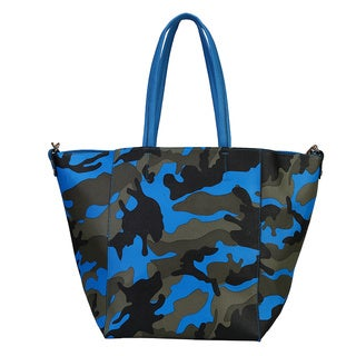 Rimen & Co. Faux Leather Camouflage Pattern Shoulder Tote