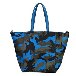Rimen & Co. Faux Leather Camouflage Pattern Shoulder Tote