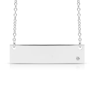 Sterling Silver Diamond Accent Bar Necklace, 18 Inches