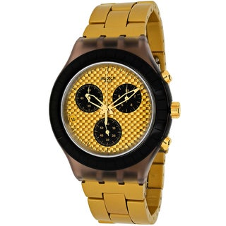 Swatch Men's SVCM4010AG Desert Sands Round Goldtone Stainless Steel Bracelet Watch