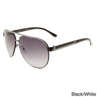 Khan Men's Metal Aviator Sunglasses