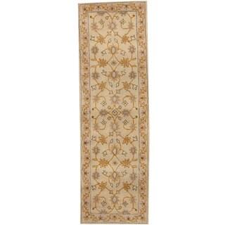 Handmade Herat Oriental Indo Tibetan Wool Runner (India) - 2'6 x 8'