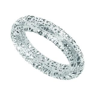 14 Karat White Gold 5mm Mesh Ring