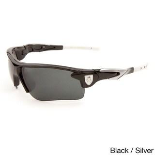 Khan Men's Flak Dark Lens Plastic Sporty Sunglasses