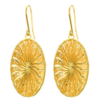 14 Karat Yellow Gold 29x16mm Oval Shaped Starburst Earrings With Fishhook Backs|https://ak1.ostkcdn.com/images/products/11321825/P18298990.jpg?impolicy=medium