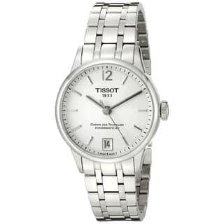 Tissot Women's T0992071103700 'T-Classic Chemin Des Tourelles' Automatic Stainless Steel Watch|https://ak1.ostkcdn.com/images/products/11321836/P18298916.jpg?impolicy=medium