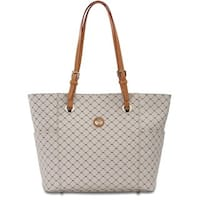 Rioni Signature Natural Saddle Tote