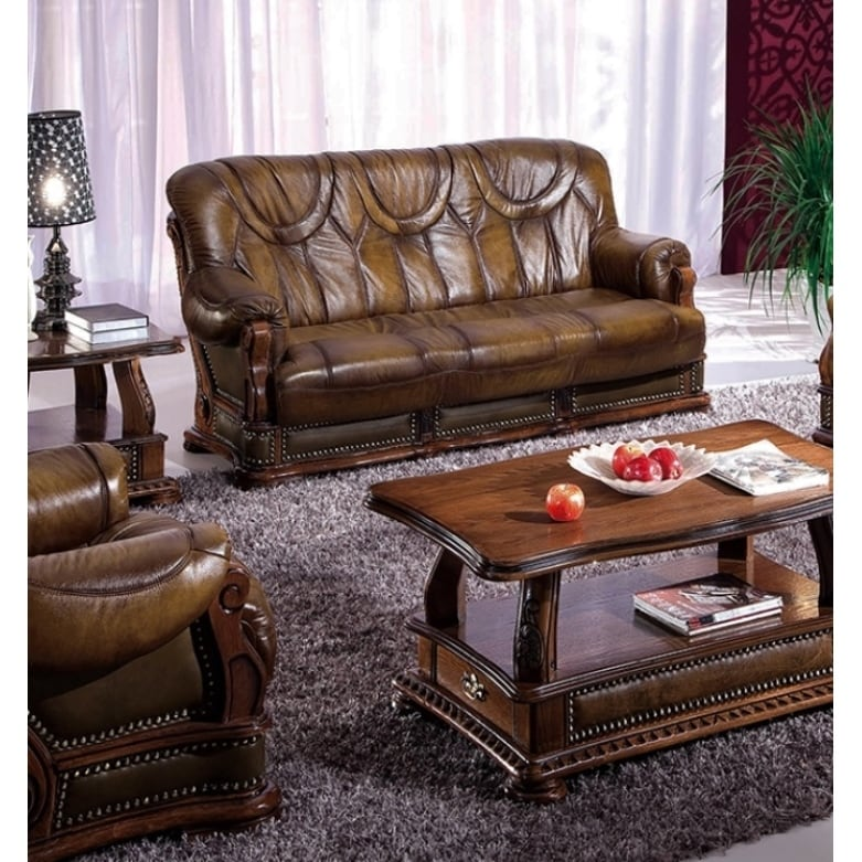 Luca Home Distressed Brown Sofa Bed (Distressed Brown Sof...