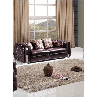 Luca Home Burgundy Sofa