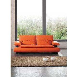 Luca Home Orange Sofa