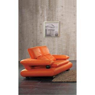 Luca Home Orange Loveseat