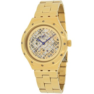 Swatch Men's YAG100G Boleyn Round Goldtone Stainless Steel Bracelet Watch