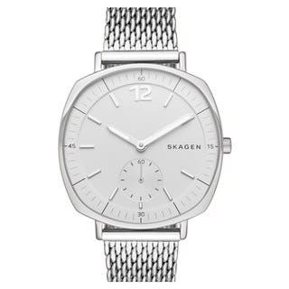 Skagen Women's SKW2402 Rungsted White Dial Silver-Tone Mesh Bracelet Watch|https://ak1.ostkcdn.com/images/products/11321953/P18299109.jpg?impolicy=medium