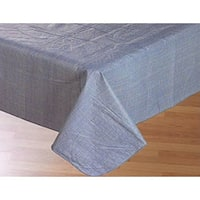 Carnation Home Fashions 70-inch Round Vinyl Tablecloth