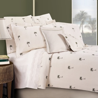 Palm Cotton Coverlet Free Shipping Today Overstock Com