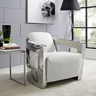 Modway Trip Leather Lounge Chair