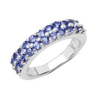 Olivia Leone Sterling Silver 1 1/10ct TGW Tanzanite Ring