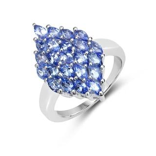 Malaika Sterling Silver 1 7/8ct TGW Tanzanite Ring