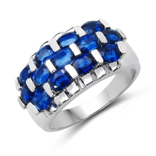 Malaika Sterling Silver 2 7/8ct TGW Kyanite Ring
