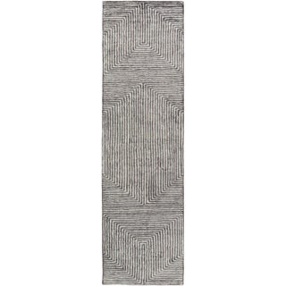 Hand-Woven Fazeley Geometric Viscose Rug (2'6 x 10')