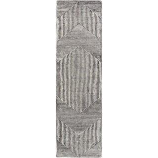 Hand-Woven Fazeley Geometric Viscose Rug (2'6 x 10')
