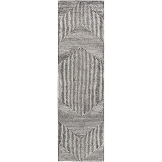 Hand-Woven Fazeley Geometric Viscose Rug (2'6 x 8')