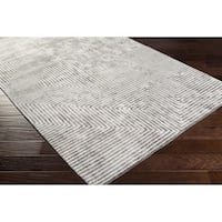 Hand-Woven Fazeley Geometric Viscose Area Rug - 6' x 9'