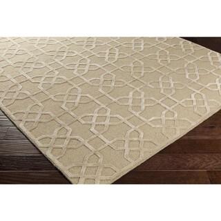 Hand-Knotted Dawlish Geometric Indoor Wool Rug (2' x 3')