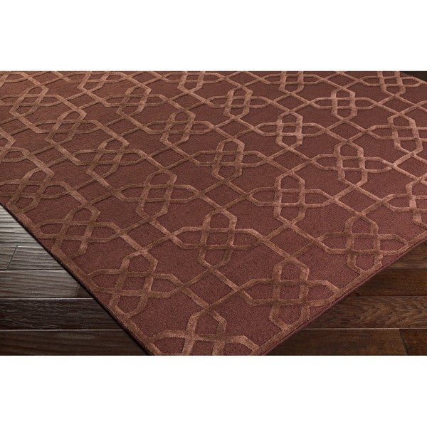 Hand-Knotted Dawlish Geometric Indoor Wool Area Rug - 4' x 6'