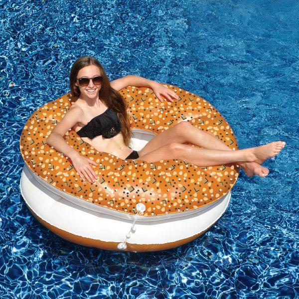 Everything Bagel Pool Float 2-Pack