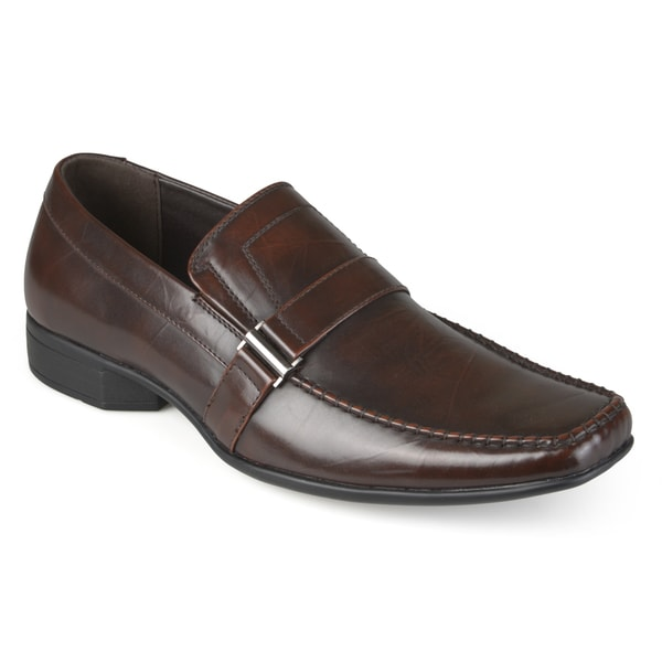 Vance Co. Men's Square Toe Faux Leather Slip-on Loafers
