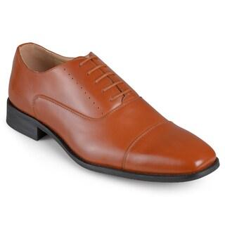 Vance Co. Men's Faux Leather Cap Toe Lace-up Dress Shoes